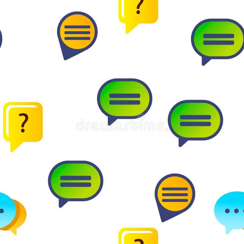 L'icône de bulle de la parole a placé le modèle sans couture de vecteur illustration libre de droits