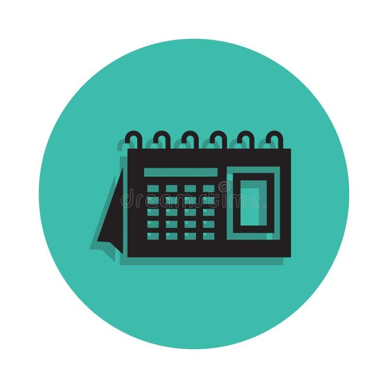 L'icône de calendrier Élément de maison d'impression pour le concept et l'icône mobiles d'apps de Web Ligne mince icône avec l'om illustration stock