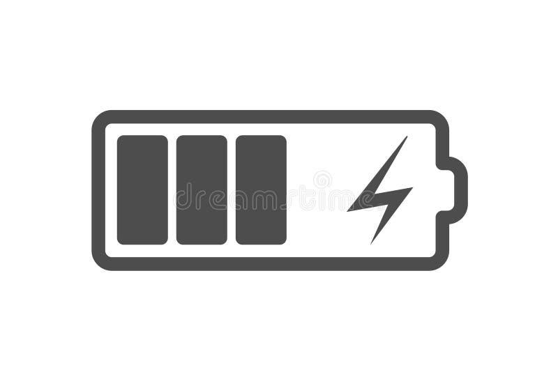 L'icône de charge de batterie, dirigent le chargeur de courant électrique Icône plate de charge d'accumulateur pour le smartphone illustration de vecteur
