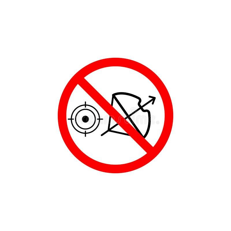 L'icône de chasse interdite de flèche sur le fond blanc peut être employée pour le Web, logo, l'appli mobile, UI UX illustration stock