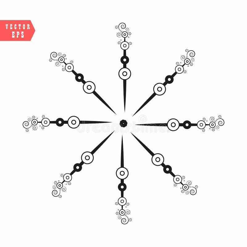 L'icône de flocon de neige, dirigent la couleur simple plate simple d'isolement sur le blanc Conception décorative de thème de va illustration libre de droits