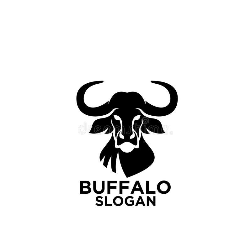L'icône de logo de Buffalo conçoit l'illustration de vecteur illustration stock