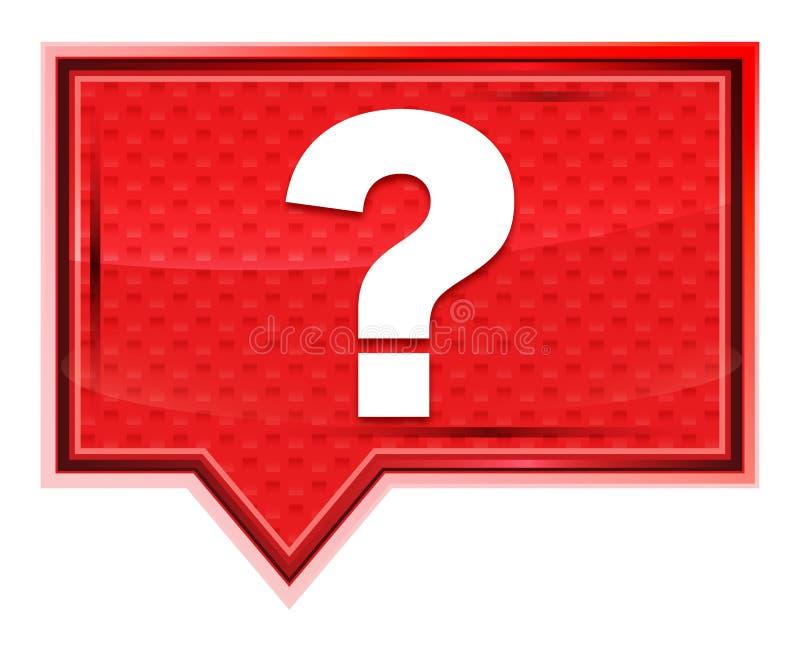 L'icône de point d'interrogation brumeuse a monté bouton rose de bannière illustration libre de droits