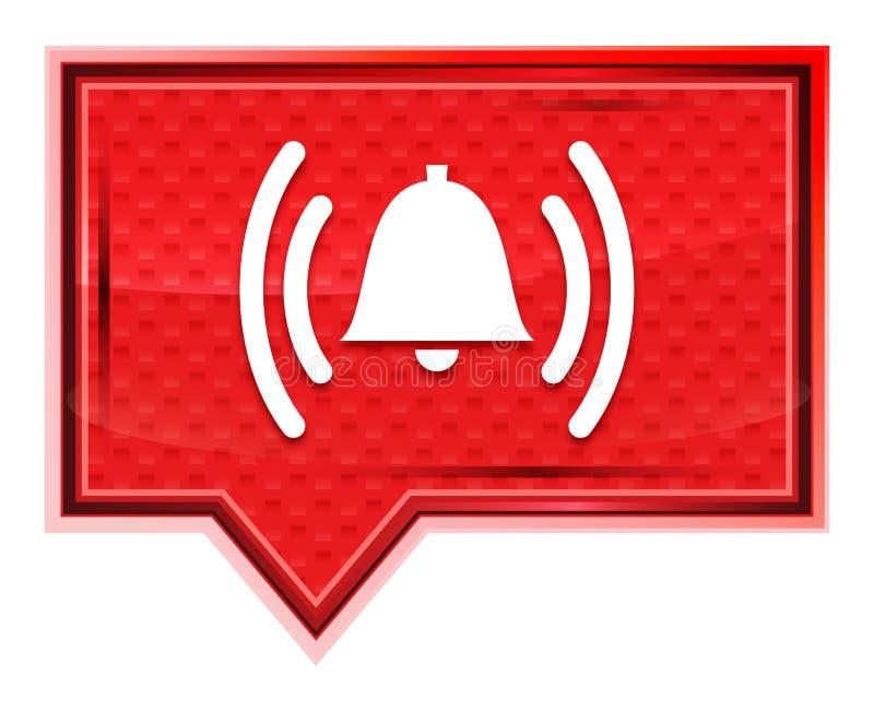L'icône de sonnerie de cloche d'alarme brumeuse a monté bouton rose de bannière illustration libre de droits
