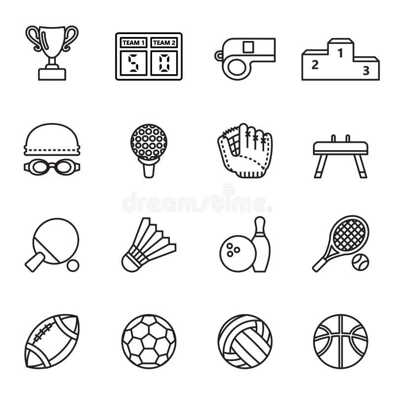 L'icône de sport a placé 1 illustration libre de droits