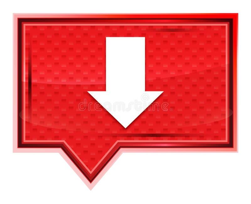 L'icône de téléchargement brumeuse a monté bouton rose de bannière illustration de vecteur