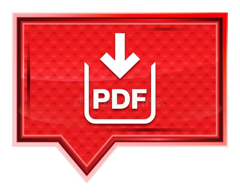 L'icône de téléchargement de document de pdf brumeuse a monté bouton rose de bannière illustration stock