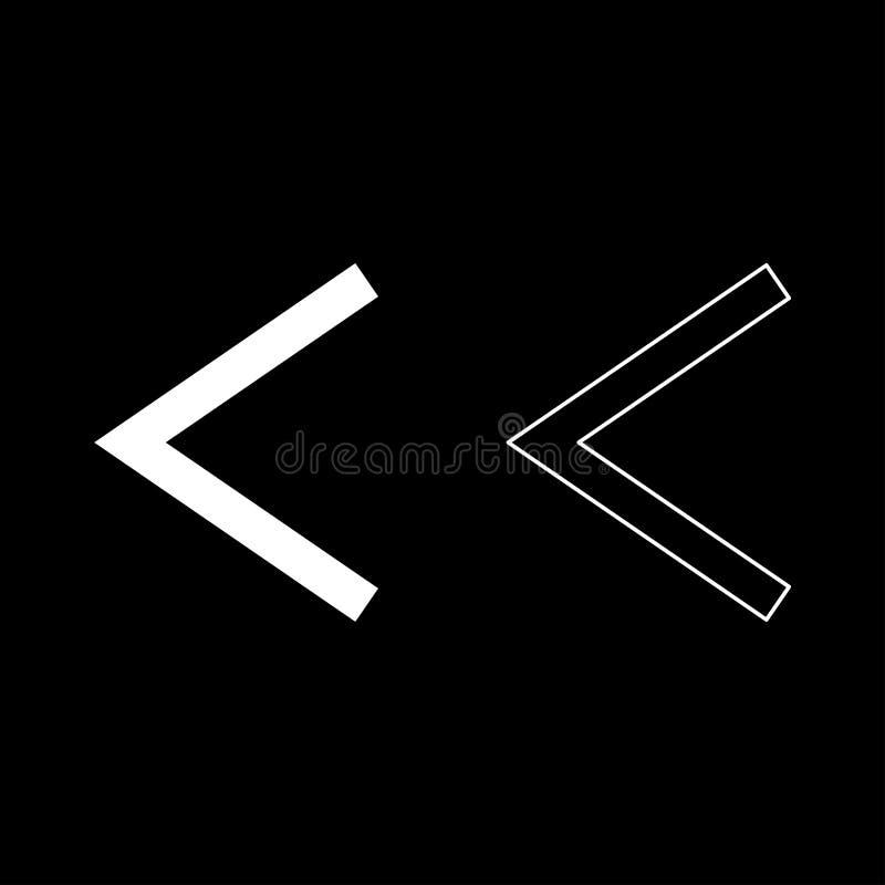 L'icône de torche d'ulcère de symbole de Kanu de rune de Kenaz a placé l'image simple de couleur de style plat blanc d'illustrati illustration stock