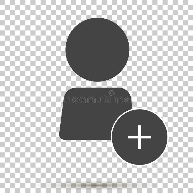 L'icône de vecteur ajoutent un utilisateur, ajoutent une personne ou ajoutent un ami illustration stock