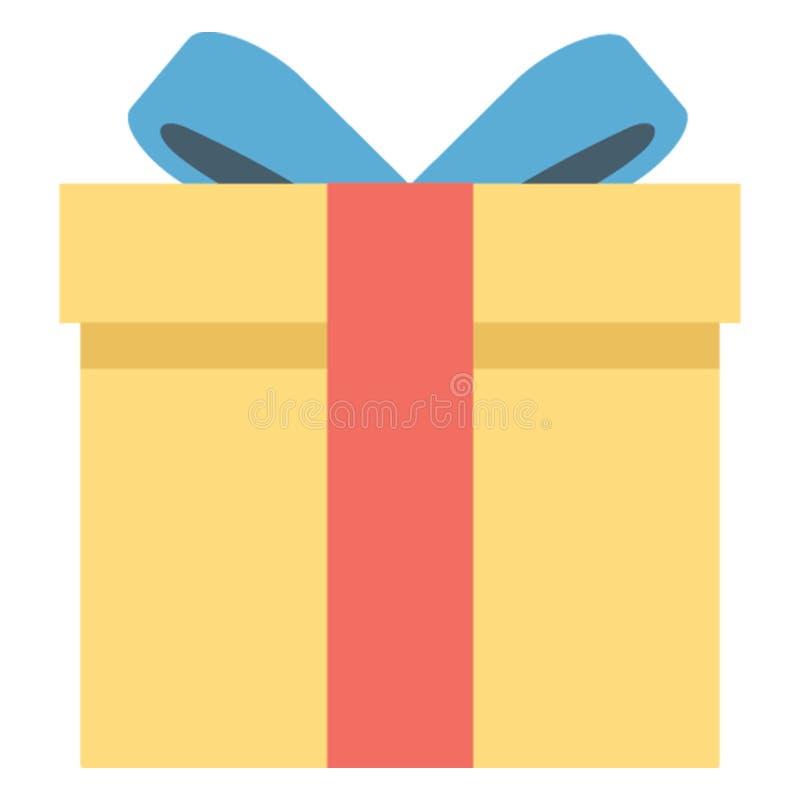 L'icône de vecteur de couleur de cadeau facilement modifient ou éditent images libres de droits