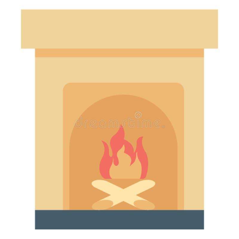 L'icône de vecteur de couleur de cheminée facilement modifient ou éditent illustration libre de droits