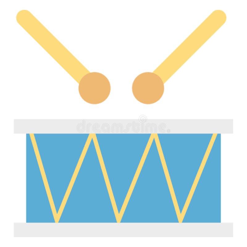 L'icône de vecteur de couleur de tambour facilement modifient ou éditent image stock