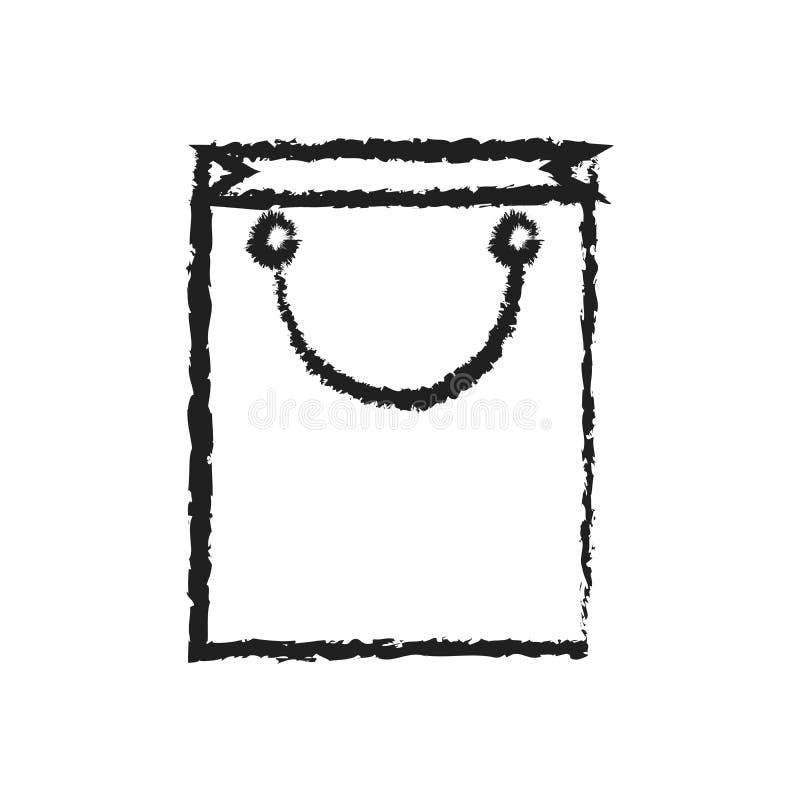 L'icône de vecteur de diagramme d'achats, schéma rayent l'icône de vecteur de panier illustration stock