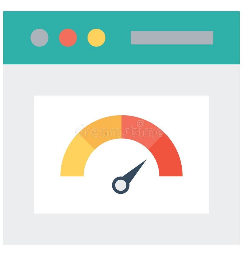 L'icône de vecteur de vitesse d'Internet a isolé l'icône de vecteur qui peut facilement modifier ou éditer illustration libre de droits