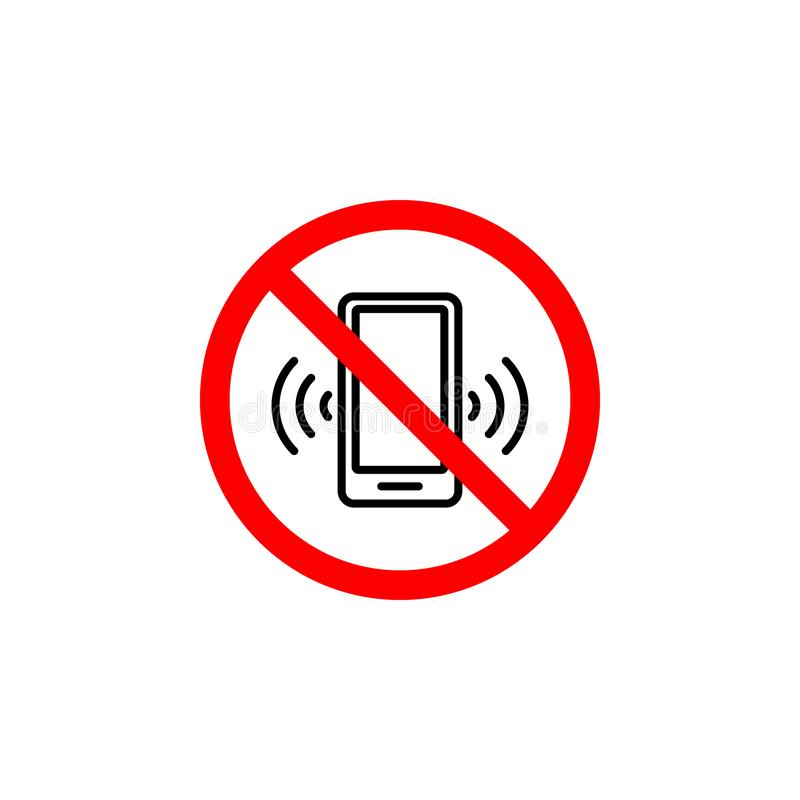 L'icône interdite d'appel téléphonique peut être employée pour le Web, logo, l'appli mobile, UI UX illustration libre de droits