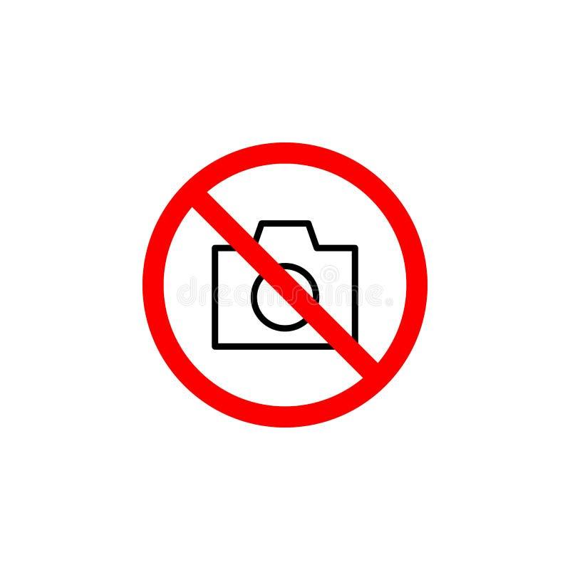 L'icône interdite de caméra peut être employée pour le Web, logo, l'appli mobile, UI UX illustration de vecteur