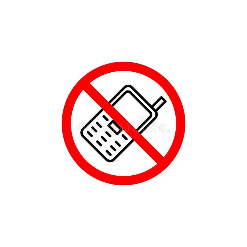L'icône interdite de téléphone peut être employée pour le Web, logo, l'appli mobile, UI UX illustration de vecteur