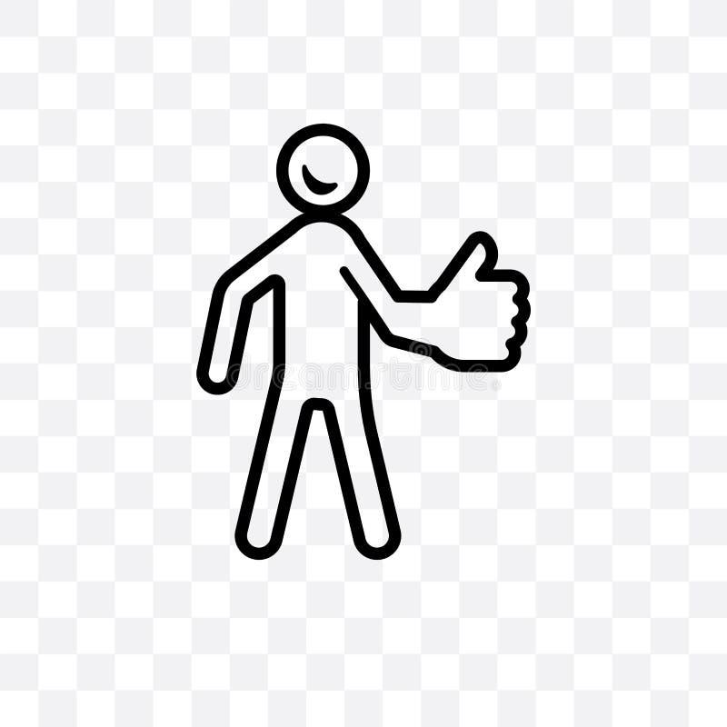 l'icône linéaire de meilleur vecteur humain d'isolement sur le fond transparent, un meilleur concept humain de transparent peut ê illustration libre de droits
