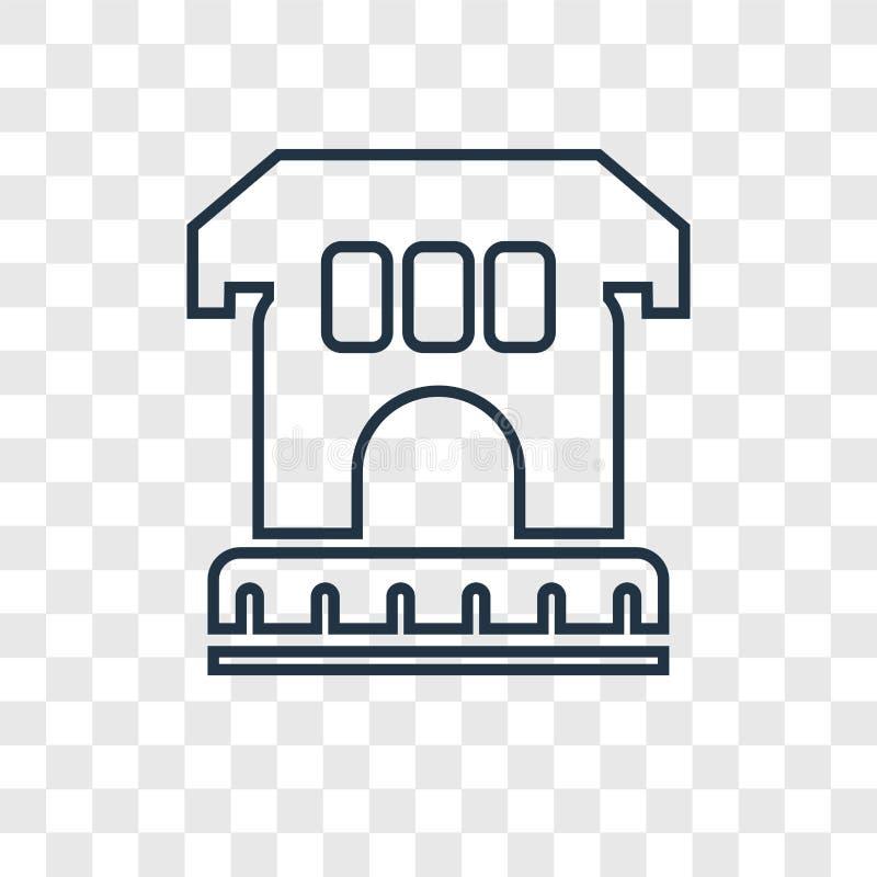 L'icône linéaire de vecteur archéologique de concept d'isolement dessus transparen illustration de vecteur