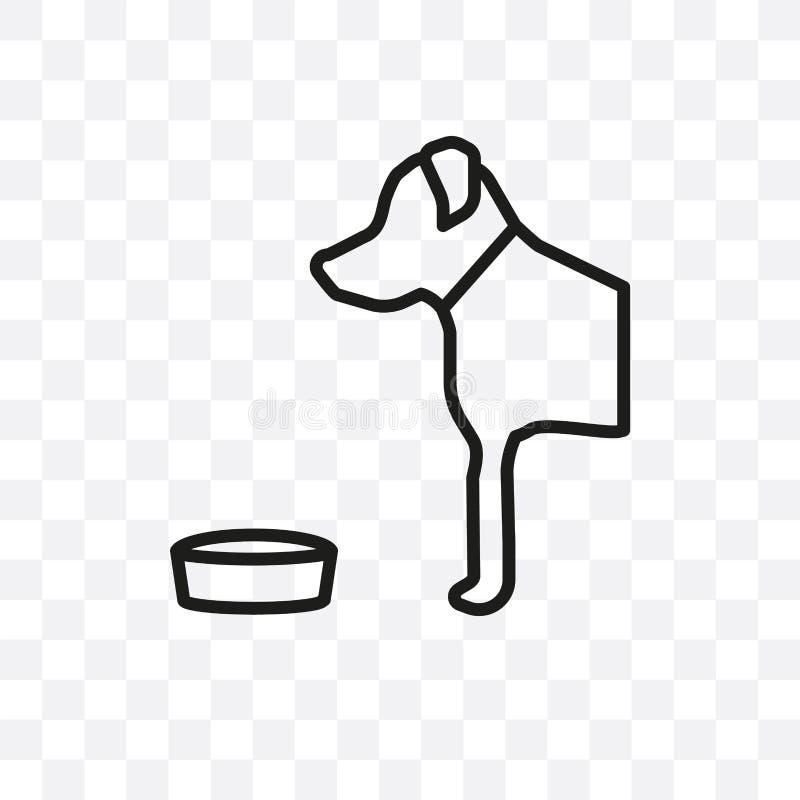 L'icône linéaire de vecteur de chien de great dane d'isolement sur le fond transparent, concept de transparent de chien de great  illustration de vecteur