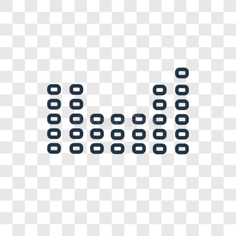 L'icône linéaire de vecteur de concept de table périodique transparen dessus illustration stock