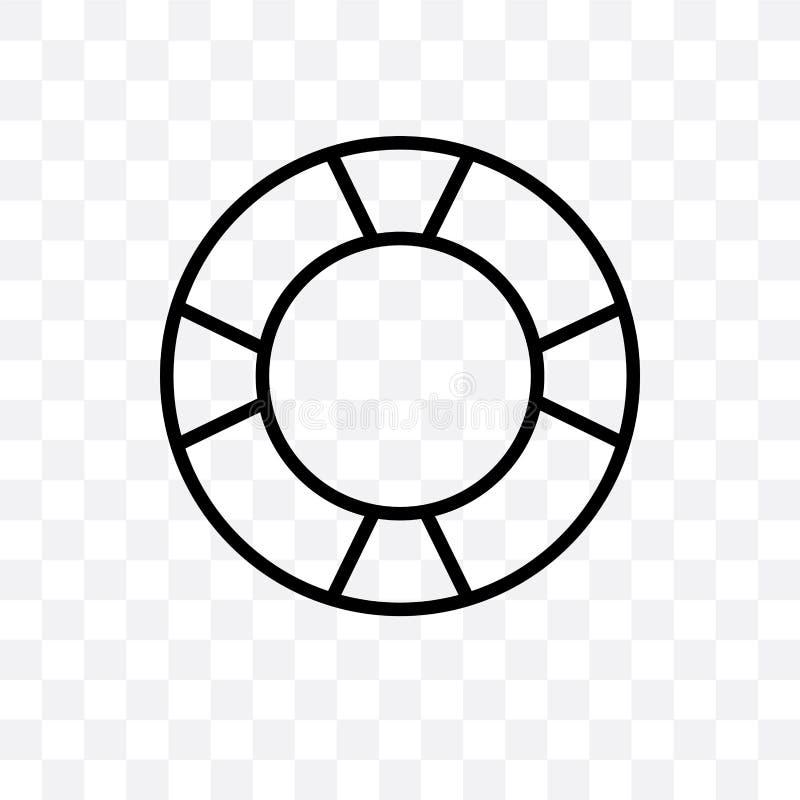 L'icône linéaire de vecteur de conservateur de vie d'isolement sur le fond transparent, concept de transparent de conservateur de illustration de vecteur