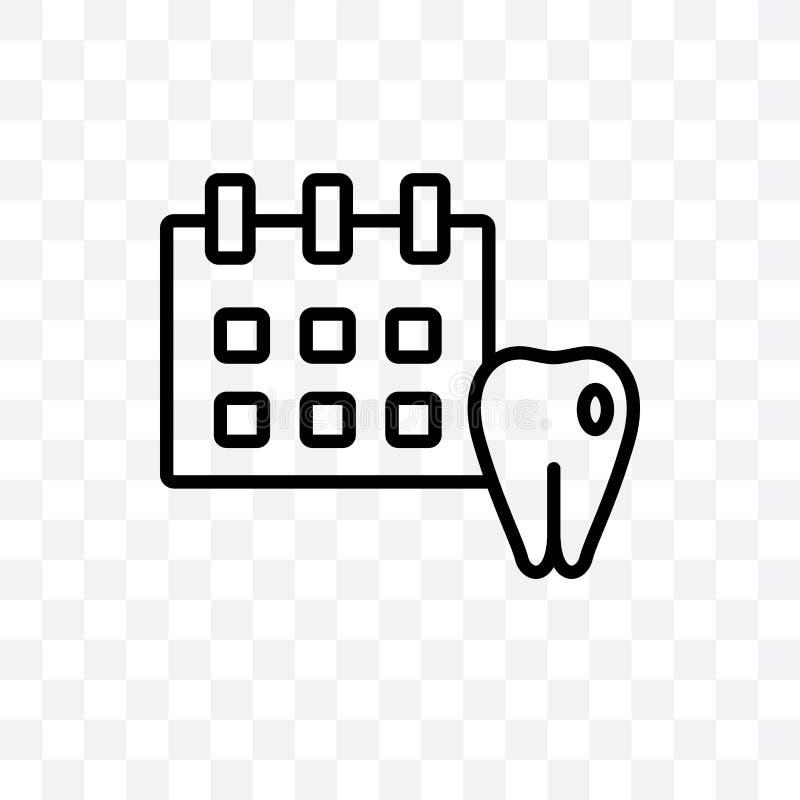 L'icône linéaire de vecteur médical de rendez-vous d'isolement sur le fond transparent, concept médical de transparent de rendez- illustration stock