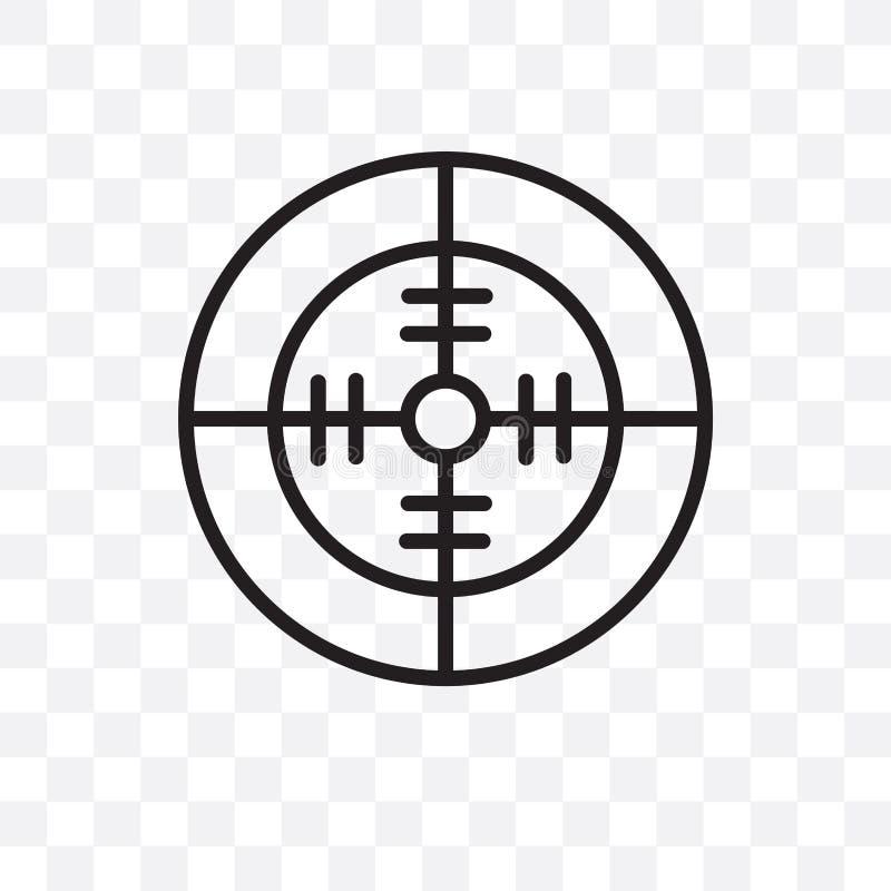 L'icône linéaire de vecteur de radar de Militar d'isolement sur le fond transparent, concept de transparent de radar de Militar p illustration libre de droits