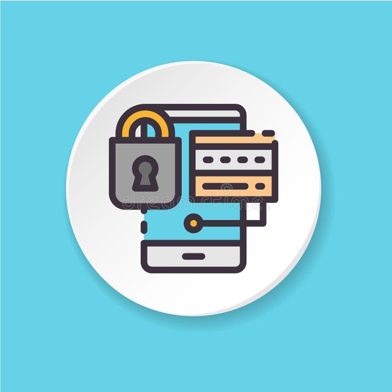 L'icône plate de vecteur le compte bloqué Accès refusé illustration stock