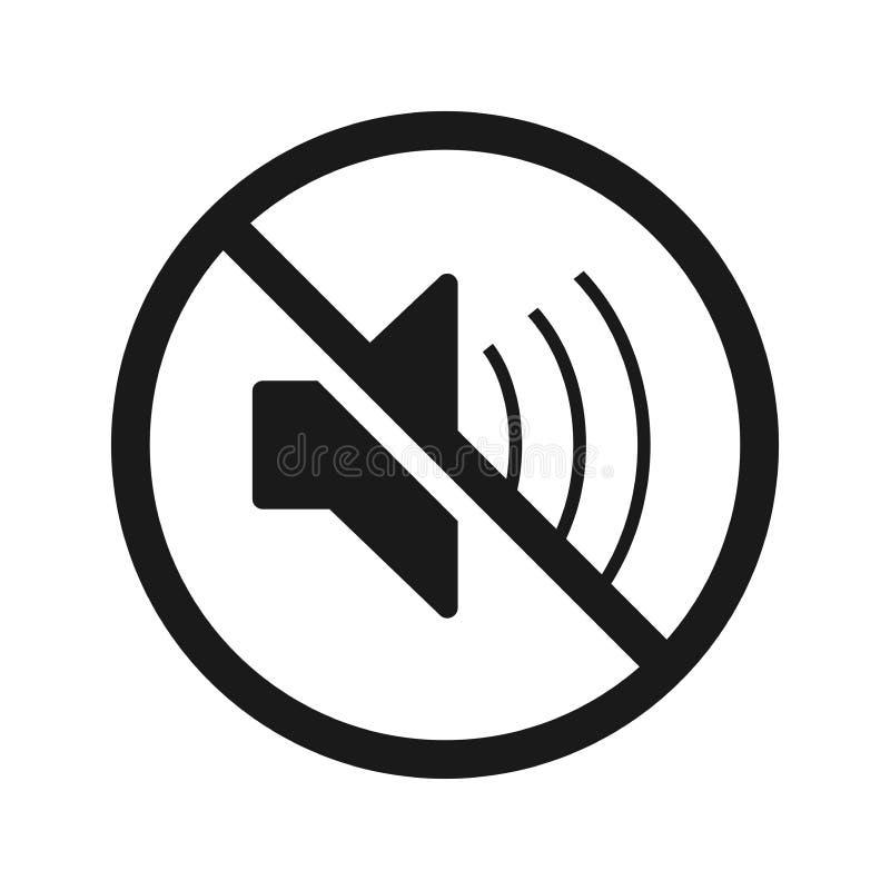 L'icône sans son Symbole Volume Off Illustration Vecteur plat illustration de vecteur