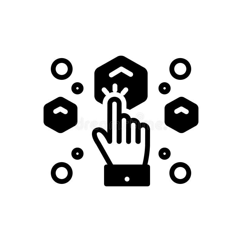 L'icône solide noire pour Choose, sélectionnent et sélection illustration libre de droits