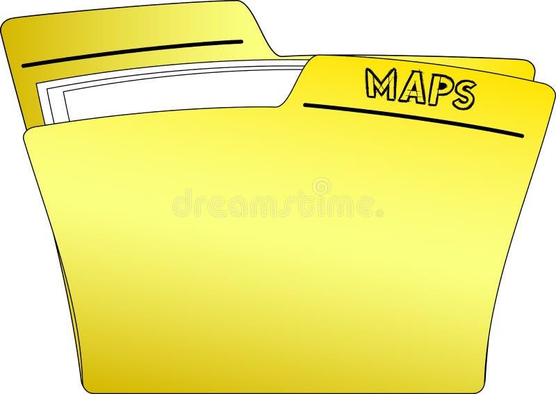 L'icône trace le dossier - vecteur illustration de vecteur