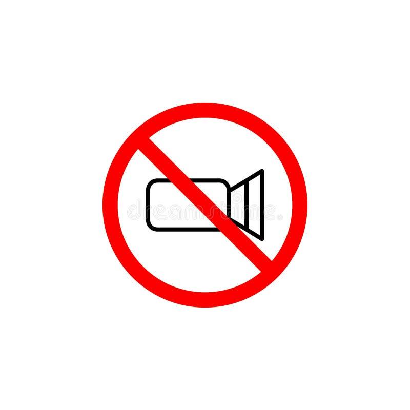 L'icône visuelle interdite peut être employée pour le Web, logo, l'appli mobile, UI UX illustration libre de droits