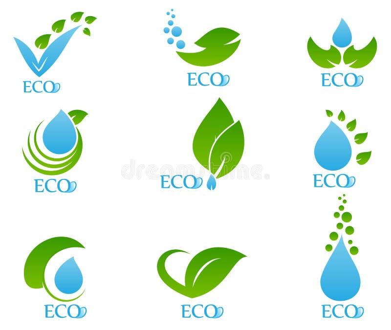 L'icône d'écologie a placé 04 illustration de vecteur
