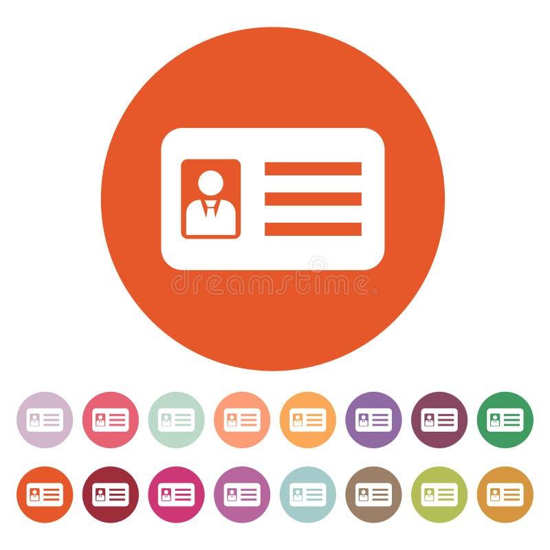 l 39 ic ne d 39 accr ditation admission et insigne identification passage symbole de permis de. Black Bedroom Furniture Sets. Home Design Ideas