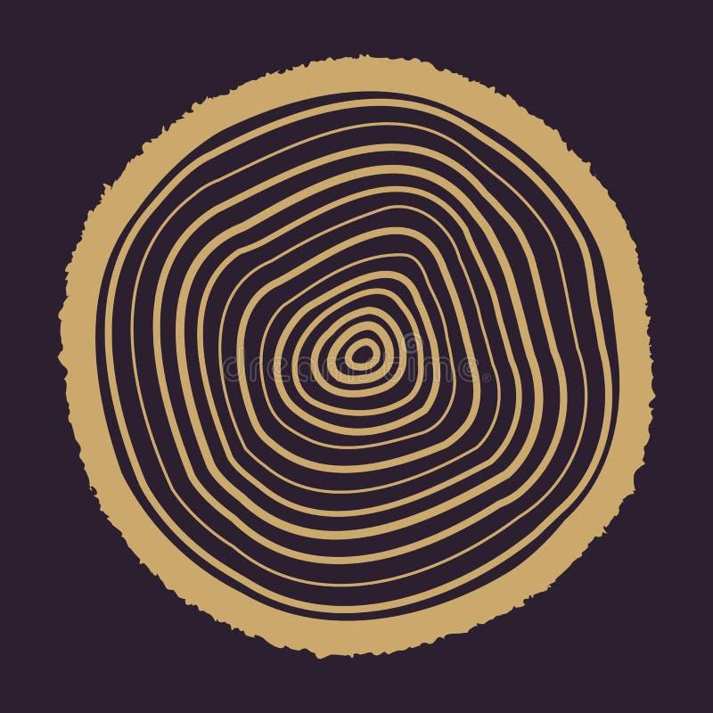 L'icône d'anneaux d'arbre Symbole d'anneaux d'arbre plat illustration stock