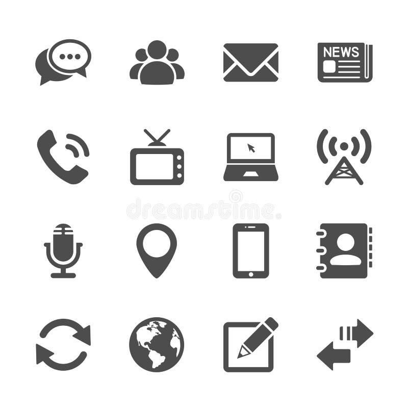 L'icône d'appareil de communication a placé 2, le vecteur eps10 illustration de vecteur
