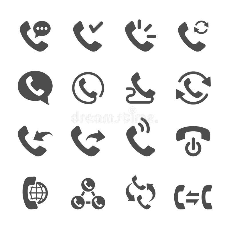 L'icône d'appel téléphonique a placé 2, le vecteur eps10 illustration stock