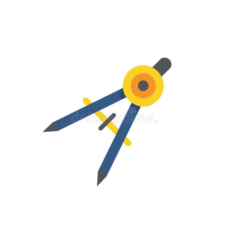 L'icône de diviseur Arpenteur et géométrie, ingénieur, architecte, Sc illustration de vecteur