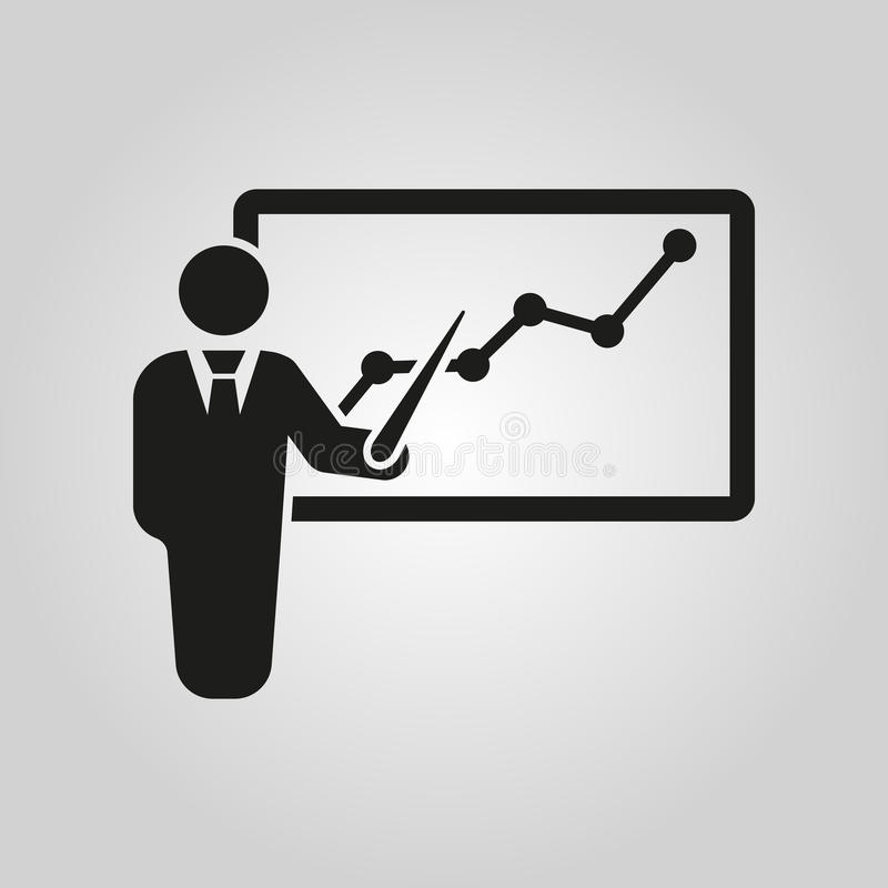 L'icône de formation du personnel Présentation et conférences, présentations, ateliers, symbole de séminaire Ui web logo signe pl illustration de vecteur