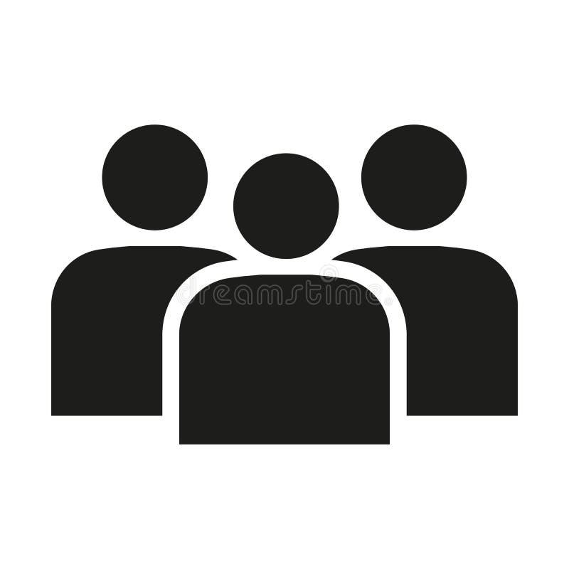L'icône de gestion Équipe et groupe, travail d'équipe, les gens, symbole d'alliance Ui web logo signe Conception plate app illustration de vecteur