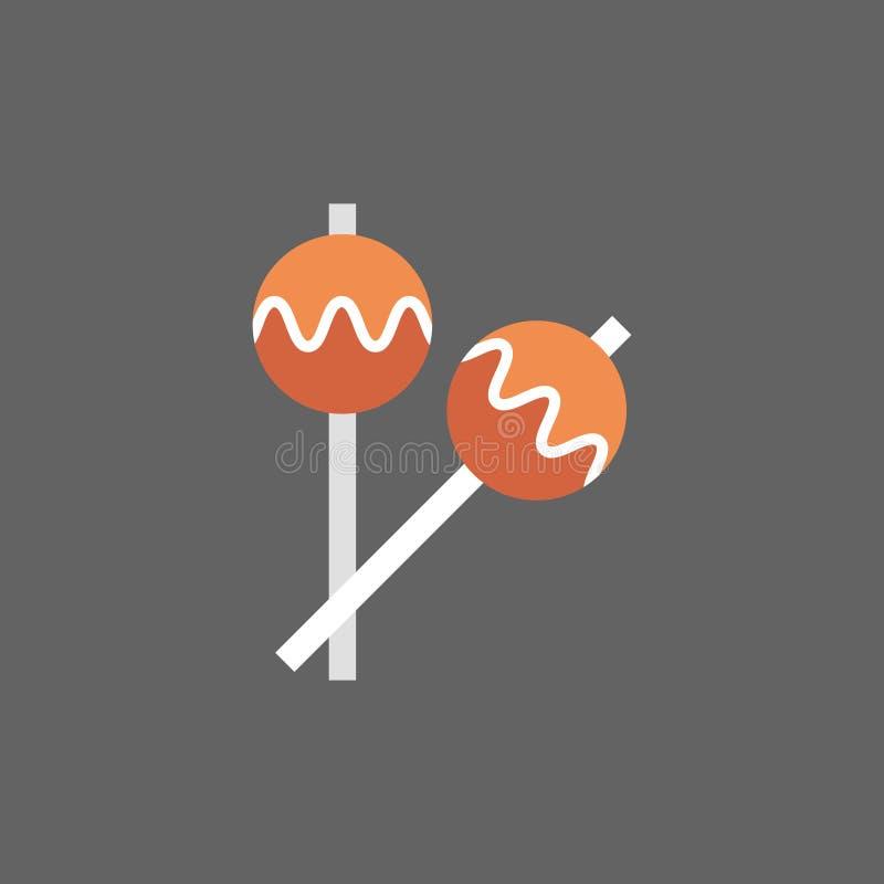 L'icône de maracas bat du tambour des instruments de musique illustration libre de droits