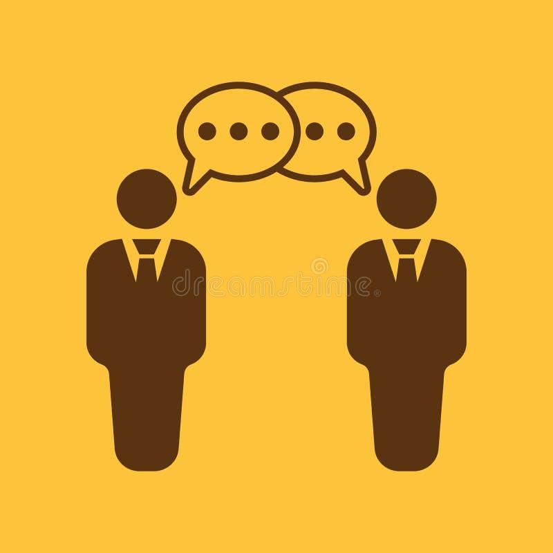 L'icône de négociations Discussion et dialogue, discussion, symbole de conversations plat illustration stock