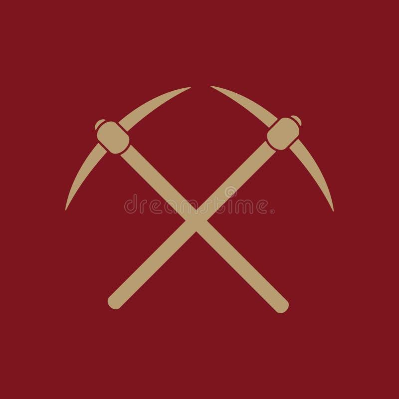 L'icône de sélection Symbole de pioche plat illustration libre de droits