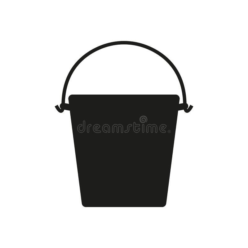 L'icône de seau Symbole de seau et de plein seau plat illustration de vecteur