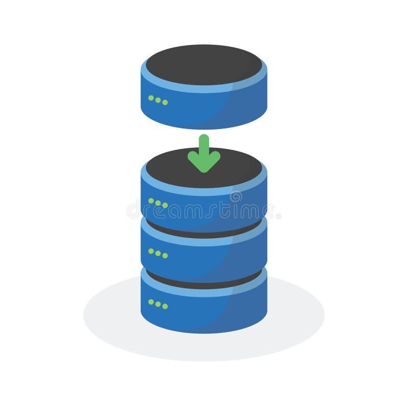 L'icône de stockage de données avec ajoutent le stockage bas, ESP10 illustration stock