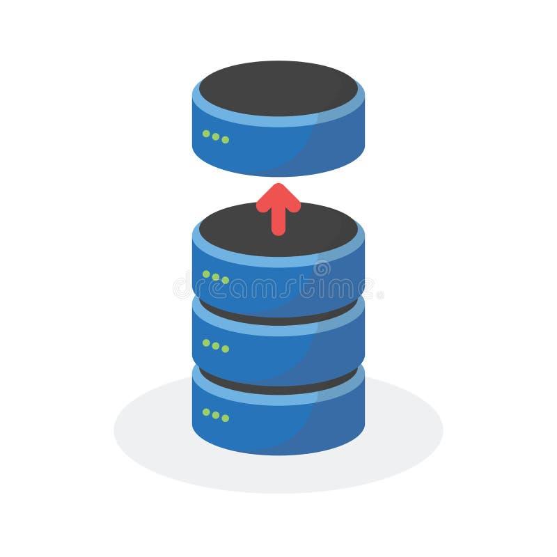 L'icône de stockage de données avec réduisent le stockage bas, ESP10 illustration de vecteur