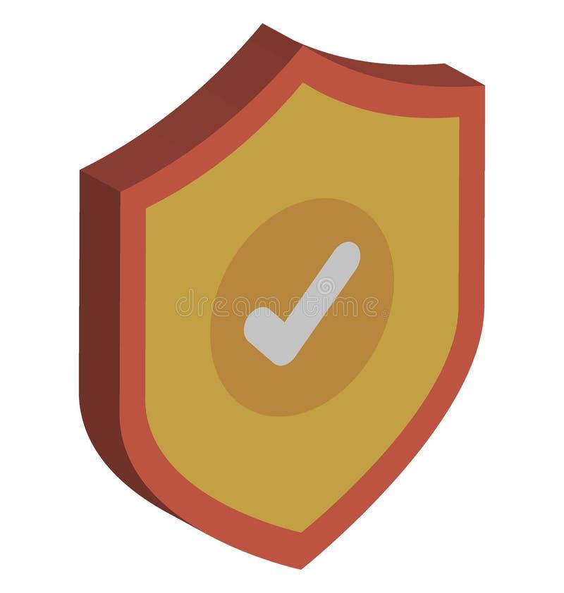 L'ic?ne de vecteur d'antivirus a isol? l'ic?ne de vecteur qui peut facilement modifier ou ?diter illustration libre de droits