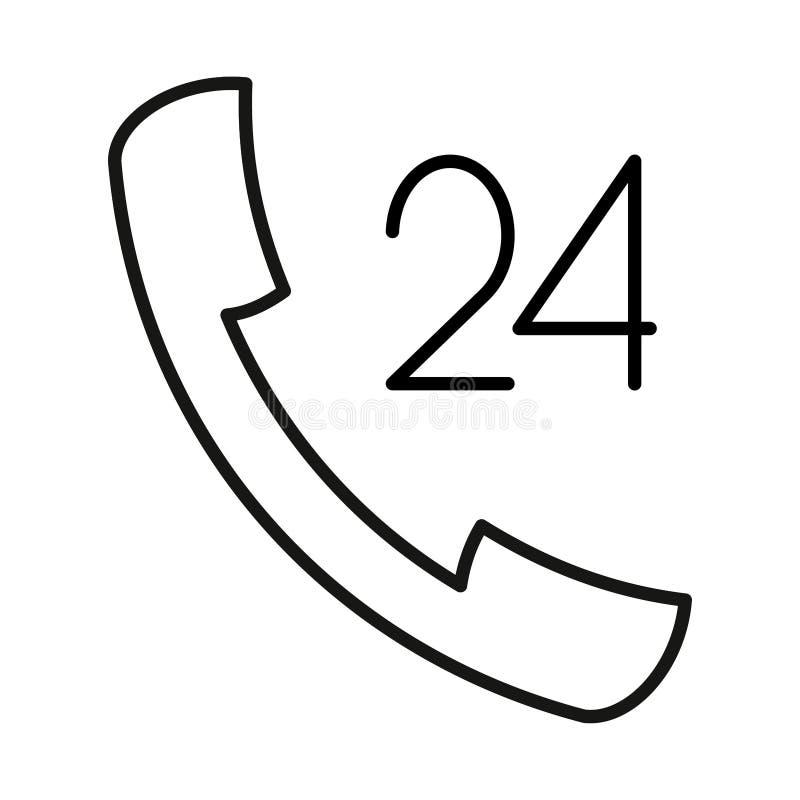 Download L'icône A Fixé 24 Heures à La Main De Découpe Noire Sur Le Fond Blanc De L'illustration Illustration Stock - Illustration du graphisme, transmission: 87708775