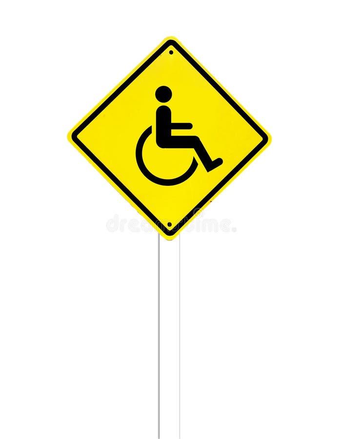 L'icône handicapée se connectent un blanc images libres de droits